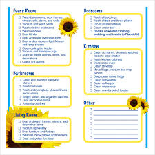 Bathroom Cleaning Checklist Template Sample Cleaning Schedule Template Spring Cleaning Checklist Real