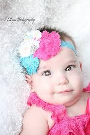 newborn headbands hot pink turquoise rainbow shabby flower headband with rhinestone center infants adults 41f6d52a jpg