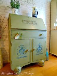 gorgeous vintage jentique writing bureau painted in annie sloan