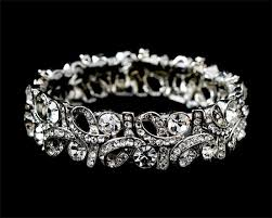 wedding jewelry bracelet crystal images Stunning swarovski crystal fashion swirl wedding bridal prom jpg