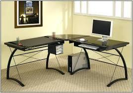 Black Glass Top Computer Desk Glass Top L Shaped Desk Overwhelming L Shape Computer Desks Black