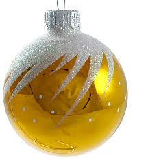 whirl glass ornament yellow glossy traditional