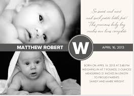 birth announcements contemporary monochromatic photo birth announcement and baby
