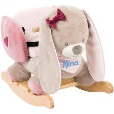 fauteuil à bascule bébé personnalisé la lapine