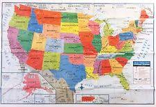 map usa usa map posters prints ebay
