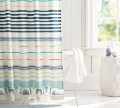 Shower Curtain Striped Watson Multi Stripe Shower Curtain Pottery Barn