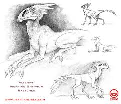 alterian hunting gryphon sketches the art of jeff carlisle