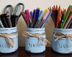 Desk Pencil Holder Pencils Holder Etsy