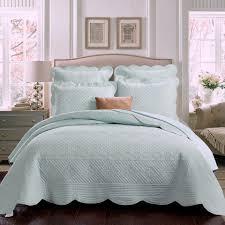 sage garden quilt light aqua solid color matelasse bedding