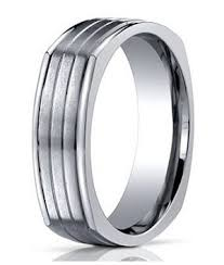 7mm ring 7mm men s benchmark four sided titanium wedding ring with