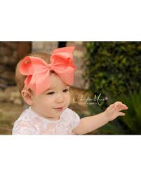 baby hairbands deals on baby headbands coral bow headband baby girl bow clip