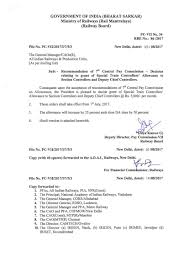 Attached Here With Recommendation Of 7th Central Pay Commission Grant Of Allowance