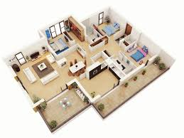 simple three bedroom house design ideas best 3 home plan 3d 2017