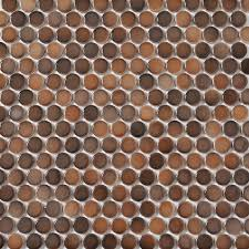 shop style selections 5 pack bronze penny round mosaic porcelain