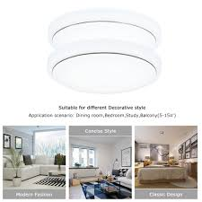 18w switch dimmable round led ceiling light room fixture lamp 3500