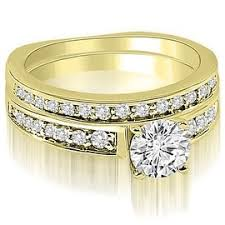 yellow gold wedding sets yellow bridal jewelry sets shop the best wedding ring sets deals