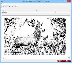 convert any photo into sketch with instant photo sketch