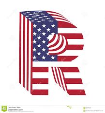 Usa Flag Photos Buchstabe R Des Lateinischen Alphabetes Usa Flagge 3d