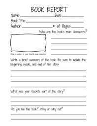 second grade book report template book report form for 2nd 3rd
