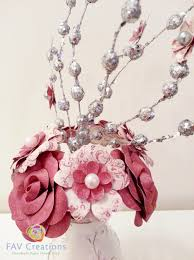 Home Decor Stores In Ontario by Brown White Paper Flowers In Vase Home Decor Handmade Flower Gift