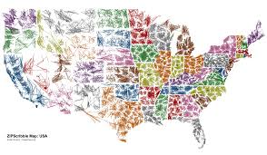 Interactive Map Of Usa by The Us Zipscribble Map
