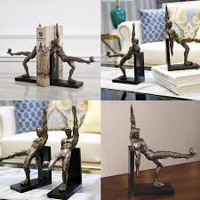 home sculptures sculptures football man sculpture bookend for home office art decor