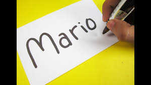 how to turn words mario into a cartoon learn drawing art on