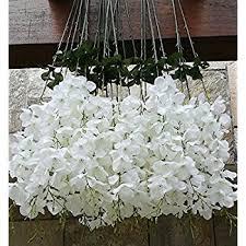 Garden And Home Decor Amazon Com Gtidea 4pcs Artificial Wisteria Bundle Fake Flowers