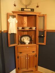 stunning corner dining room cabinet pid amish shaker home hutch