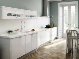 gloss kitchen ideas minimalist white kitchen ideas with chevron flooring white high