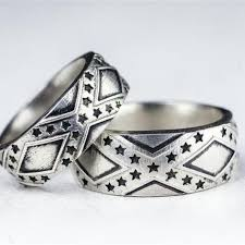 country wedding rings handmade southern pride and bars wedding band set by rock my