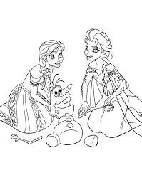 Coloriages gratuits et à imprimer la Reine des Neiges de Disney