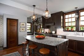gray walls with stained kitchen cabinets arabesque white granite transitional kitchen benjamin