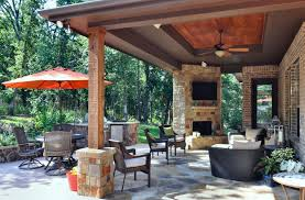 Out Door Patio Modern Patio With Custom Outdoor Fireplace By Atkins Design