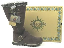 skechers womens boots uk skechers grand jams alpine way suede leather fur winter walking