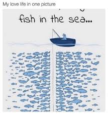 Fish In The Sea Meme - my love life in one picture fish in the sea life meme on sizzle