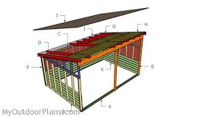 12x18 run in shed roof plans myoutdoorplans free woodworking
