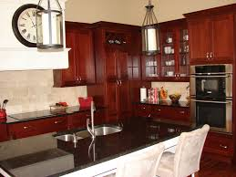 kitchen modern u shape kitchen decoration with brazilian cherry