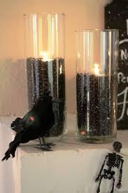 halloween candlestick holders iron u0026 twine halloween fireplace mantel enter if you dare