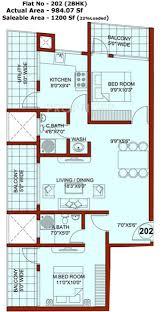 1200 sq ft 2 bhk floor plan image rohan corporation catalonia 2