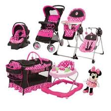 Minnie Mouse Armchair 8 Pc Set Minnie Mouse Baby High Chair Swing Doll Car Seat
