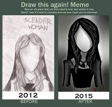 Slender Meme - draw this again meme slender woman by lizzylovesbooks on deviantart