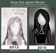 Slender Meme - draw this again meme slender woman by lizzylovesbooks on deviantart