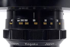 150 Feet In M Focusing Calibration Scales On Nikkor F Lenses