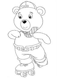 mr tubby bear play rollerskate in noddy coloring pages bulk color