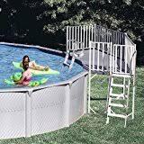 amazon com vinyl works above ground swimming pool resin deck kit