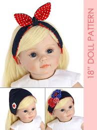 retro headbands 18 inch doll headband sewing pattern treasurie my childhood