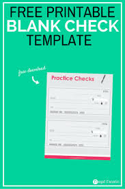 blank check template teaching teens how to manage money frugal