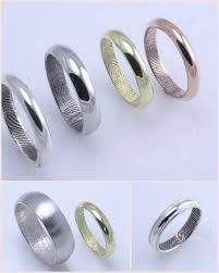 fingerprint wedding bands fingerprint wedding rings cloud 9