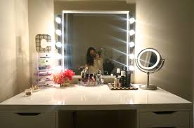 Mirrored Bedroom Furniture Rooms To Go Furniture White Mirrored Makeup Vanity With Small Drawers For